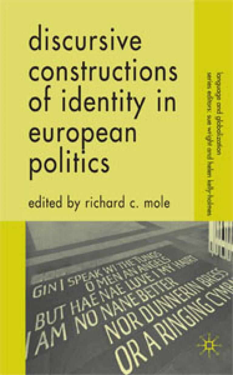 Discursive Constructions of Identity in European Politics book cover