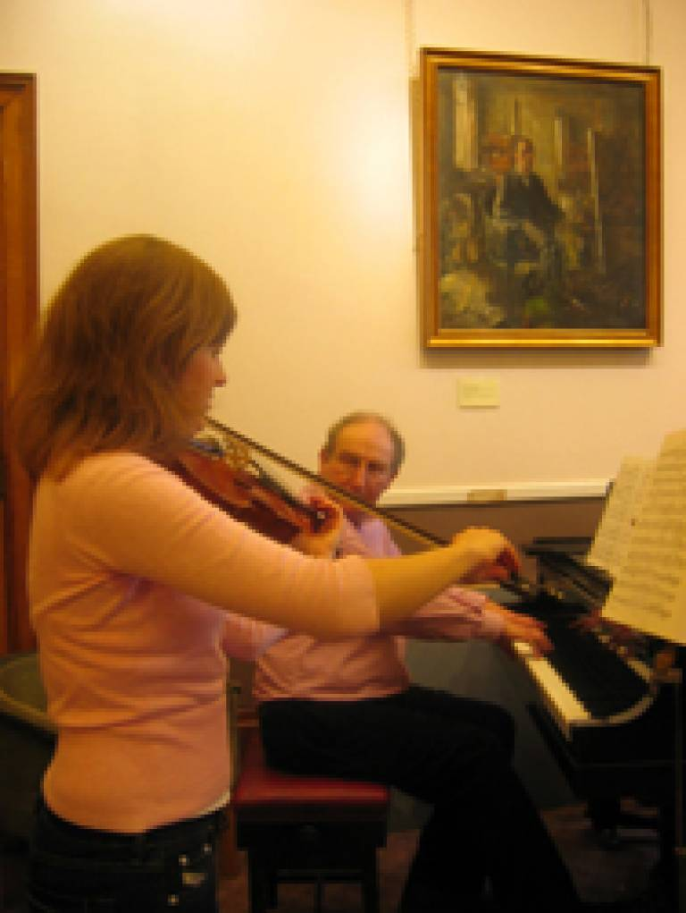 Bronwen Evans and Roger Beeson, UCL Chamber Music Club