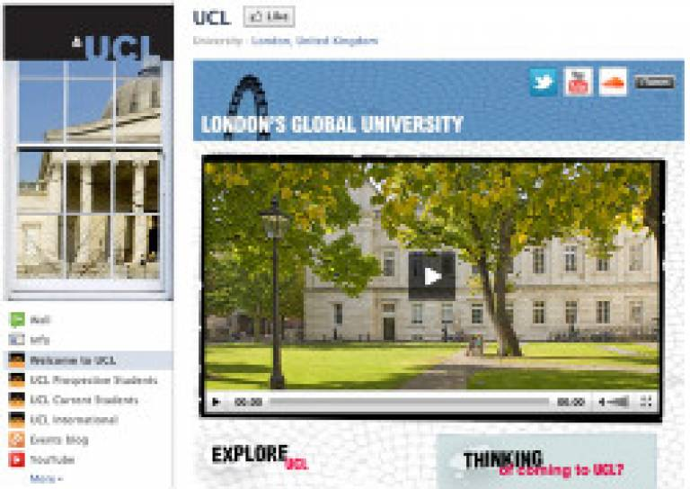 UCL facebook page