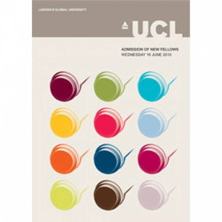 UCL Fellows brochure cover
