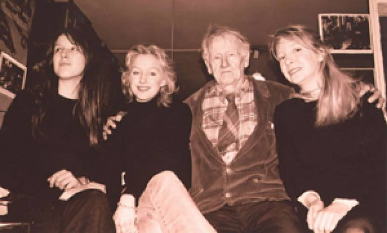 Festival organisers included Tara Mulholland, Sylvia Whitman and Emily Randall, pictured with George Whitman