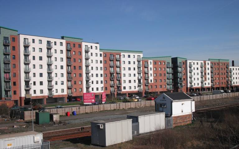 an apartment block near St Helens