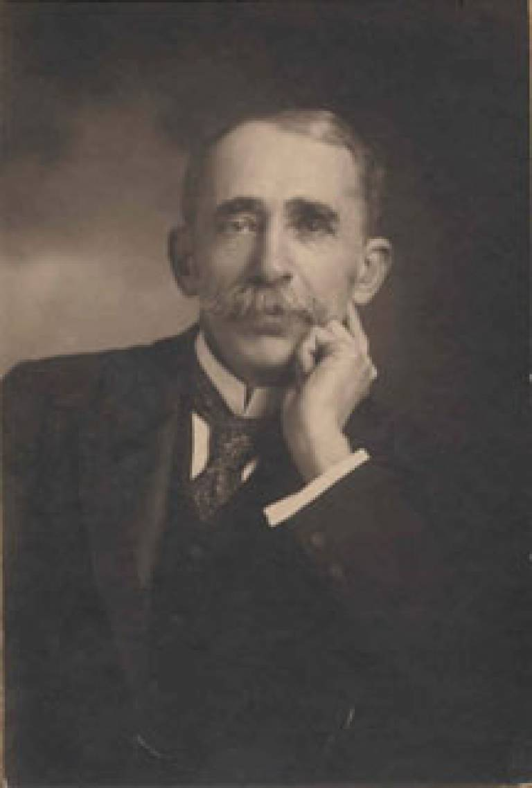 Professor Sir John Ambrose Fleming, founder of UCL's Department of Electrical Engineering