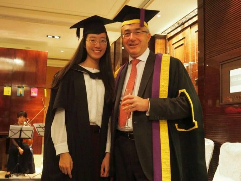 Provost at China graduation - Sina weibo @诺米苏