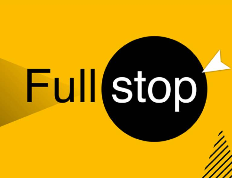 Logo for UCL's Full Stop campaign