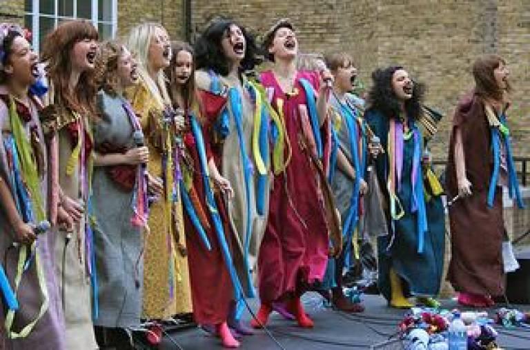 The choir 'Gaggle' at the Eye of Ra festival