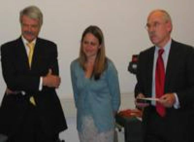 Professor Malcolm Grant, Provost & President of UCL, Sarah Eisen and Professor Graeme Catto