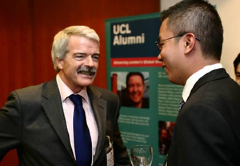 Professor Grant meets with UCL alumni in Hong Kong