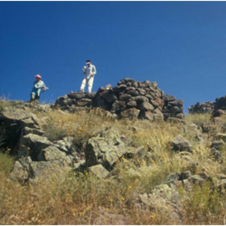 A hilltop fort