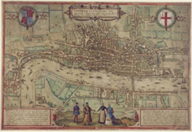 Hogenburg's 'Plan of London', 1572