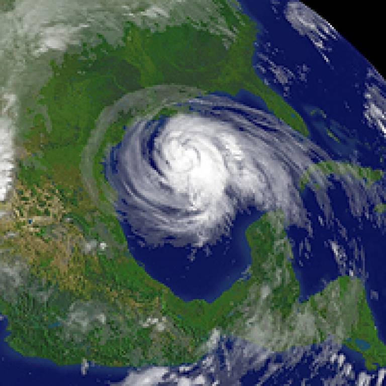 Satellite image of Hurricane Ike over the USA