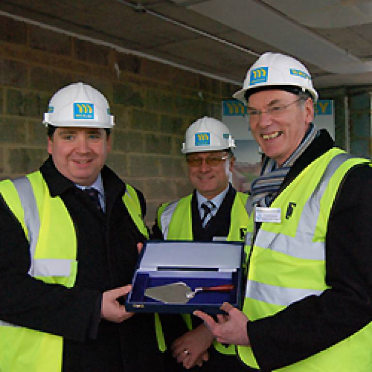 Ian Baker House topping out ceremony