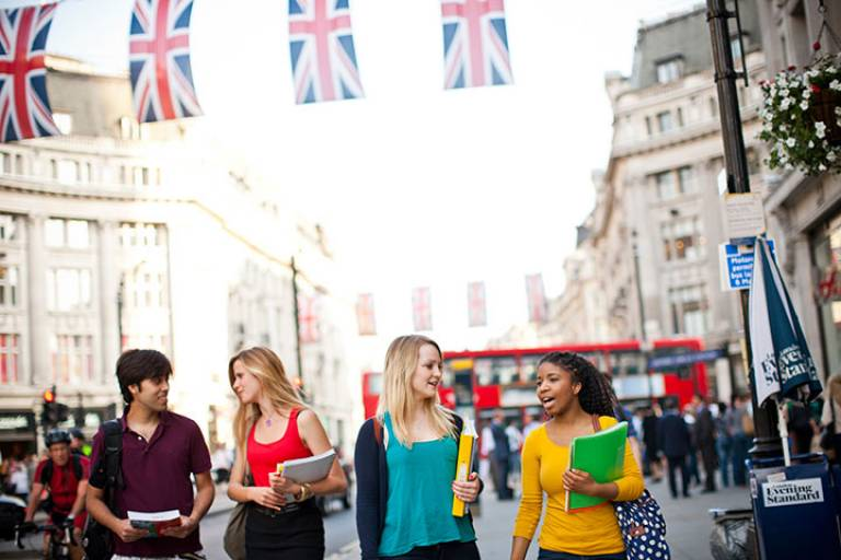 Students from UCL's new International Summer School for Undergraduates