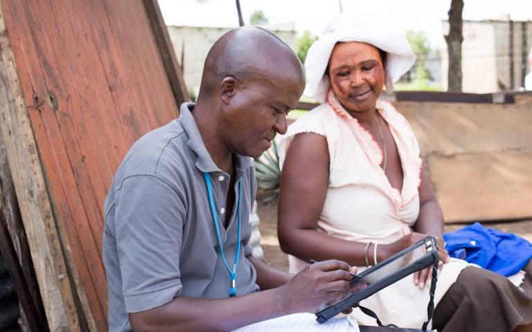 Fieldworkers in KwaZulu-Natal test the app developed by UCL researchers