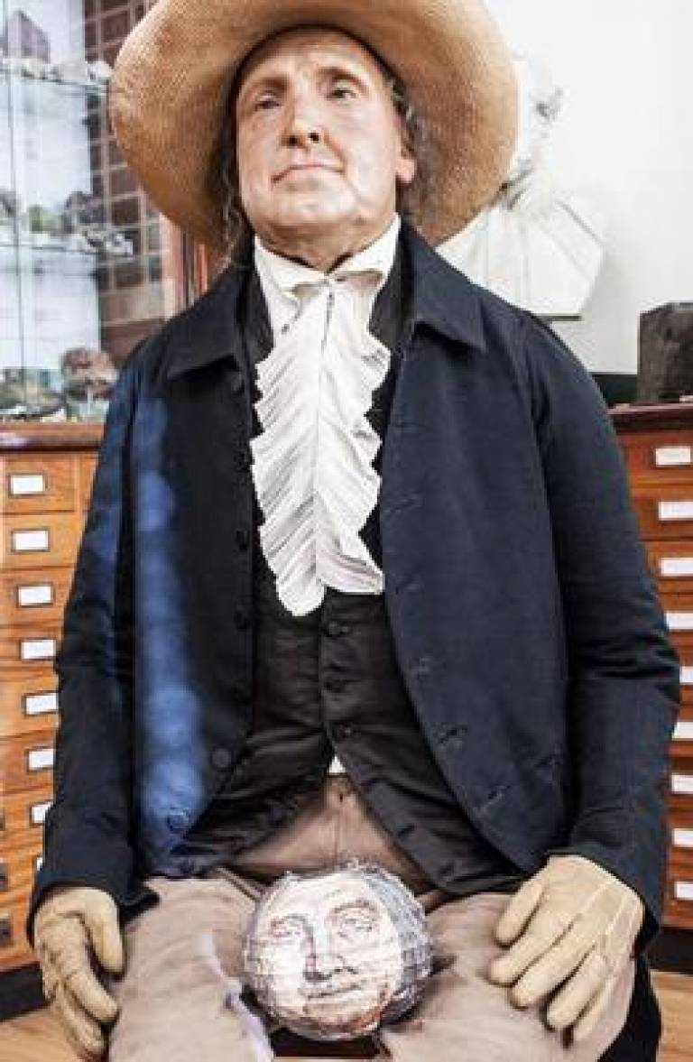 Jeremy Bentham head and body image