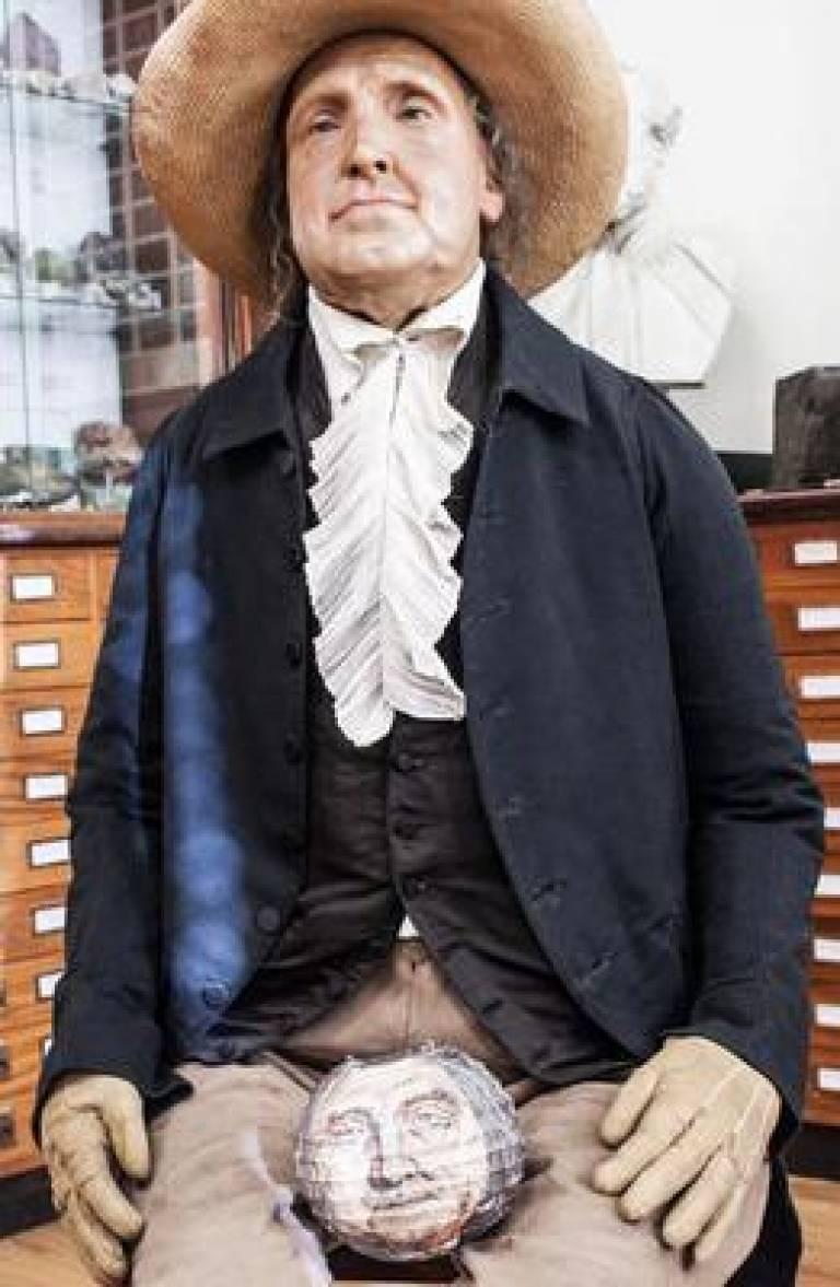 Jeremy Bentham head and body image