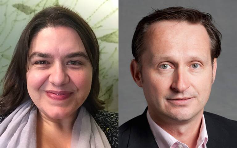 Profs Kate Jones and Michael Davies