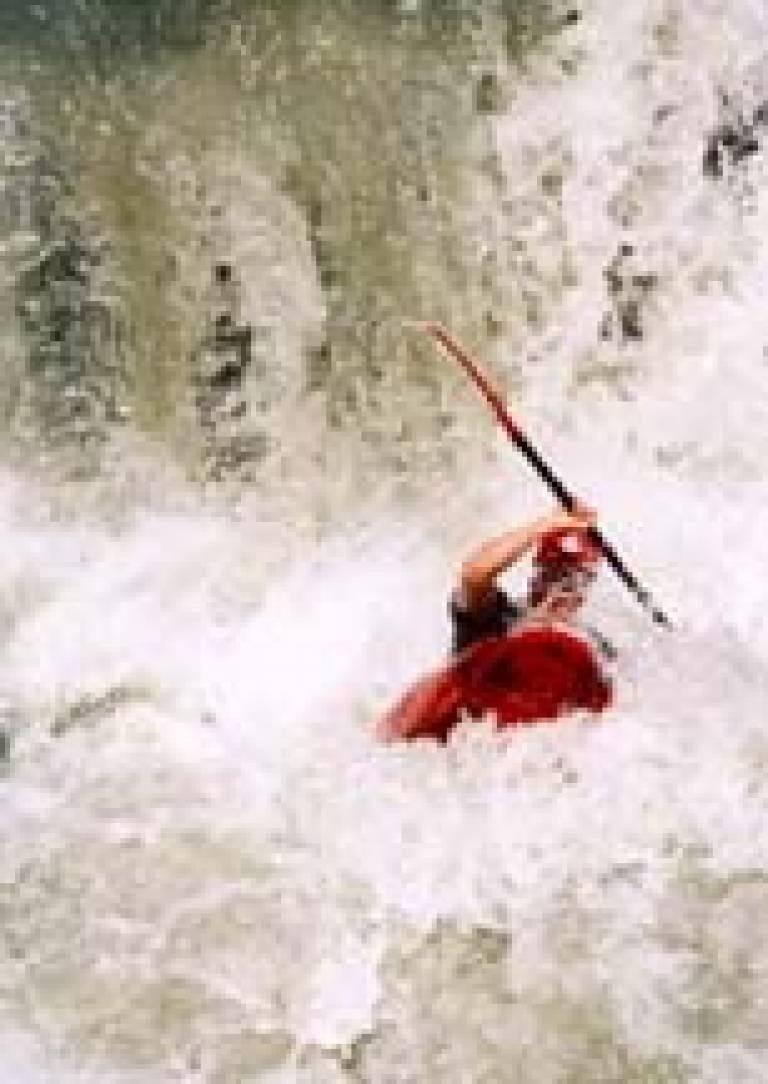Tim Burne kayaking