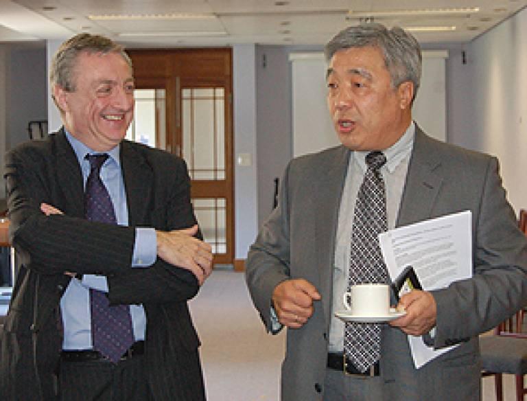 The ambassador with Vice-Provost Michael Worton