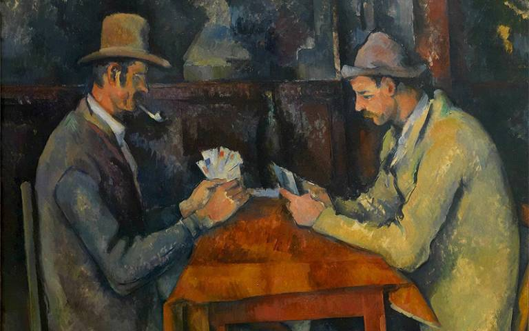 Painting of card players by Cezanne