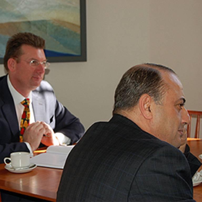 Professor Vince Emery and Dr Idris H Mabruk Elabedi