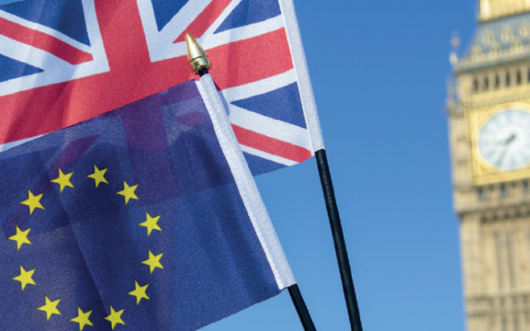 London EU flags