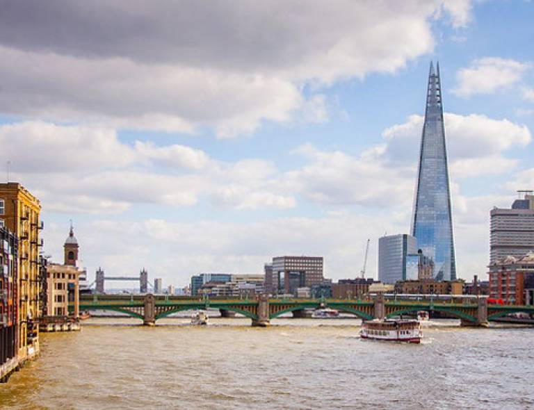 View of the River Thames with the Shard building