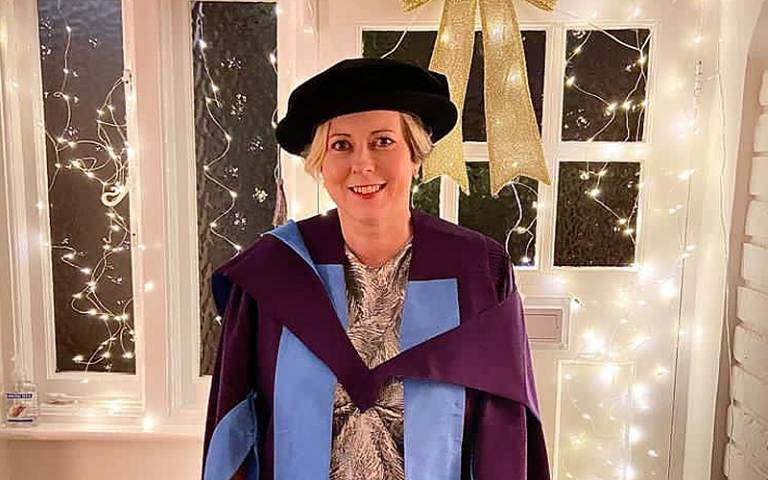Former Vice-Provost Lori Houlihan receives her honorary Doctorate from UCL
