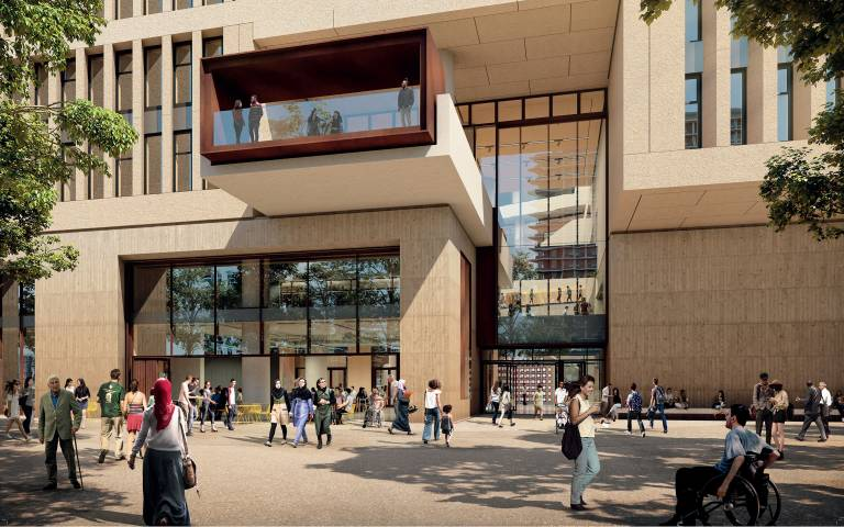 Entrance to the Marshgate Building that will be built on the UCL East campus