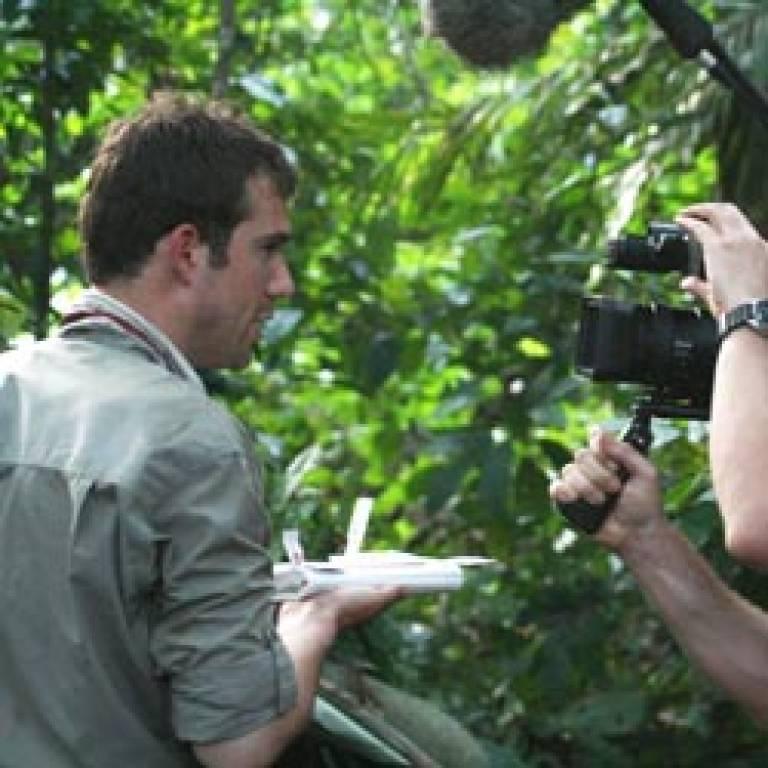 Filming 'Medicine Men Go Wild'