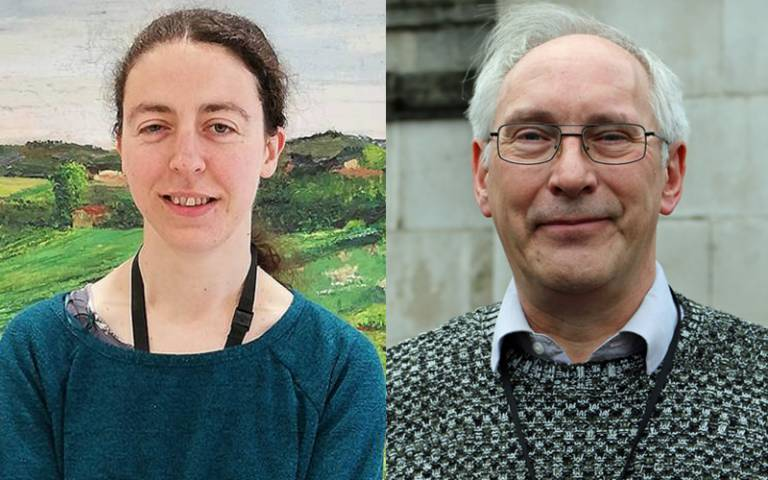 Research Fellow Beatrice Melinek and Dr Stephen Morris