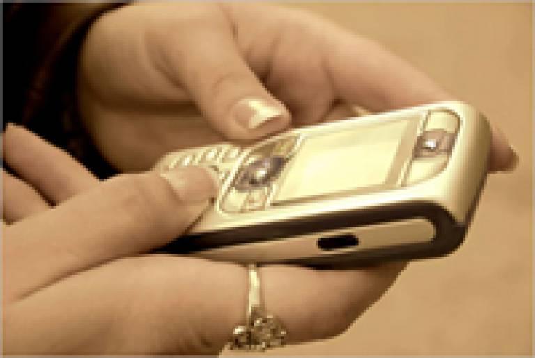 Receiving an SMS text message
