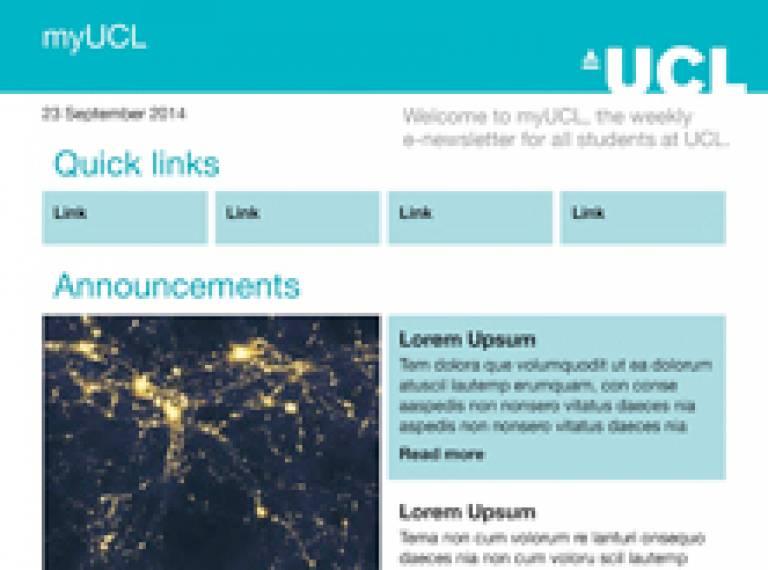 screenshot of myUCL