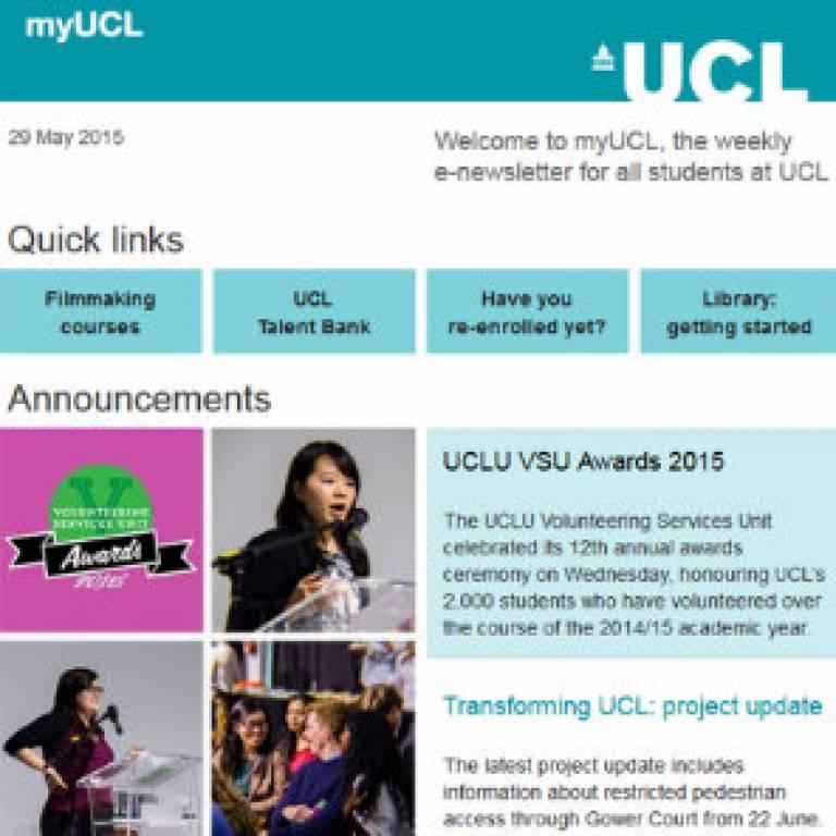 myUCL 2015 summer schedule