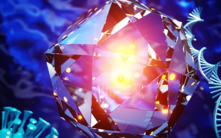 nanodiamonds - artist's conception