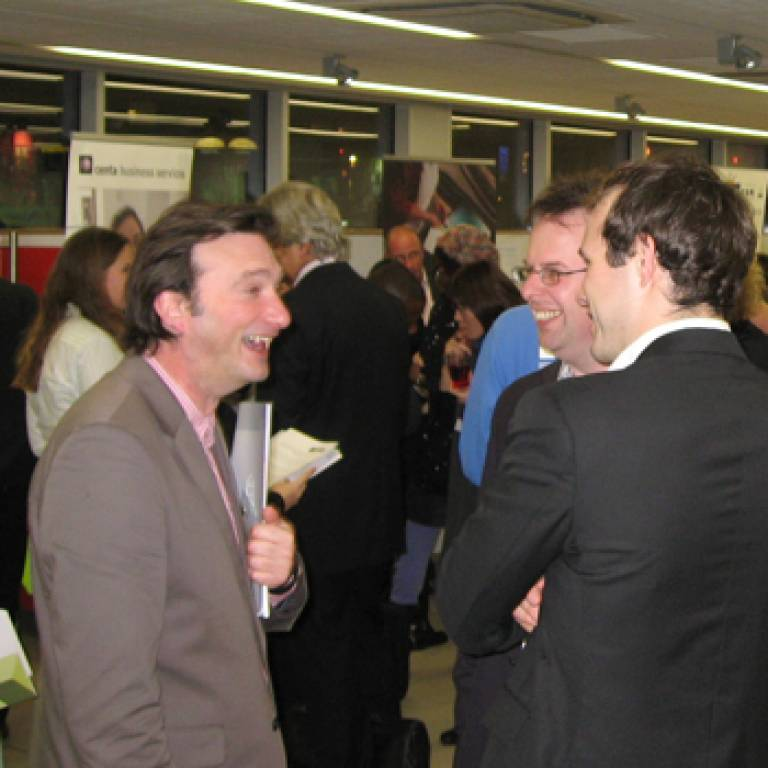 Networking at the event hosted by UCL Advances