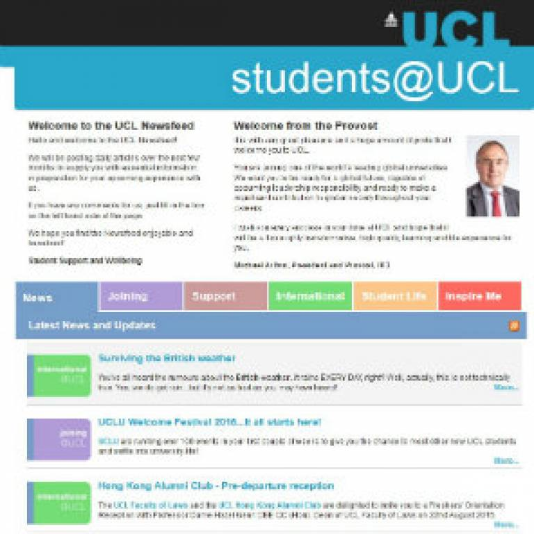 New students newsfeed: we want to hear from you!
