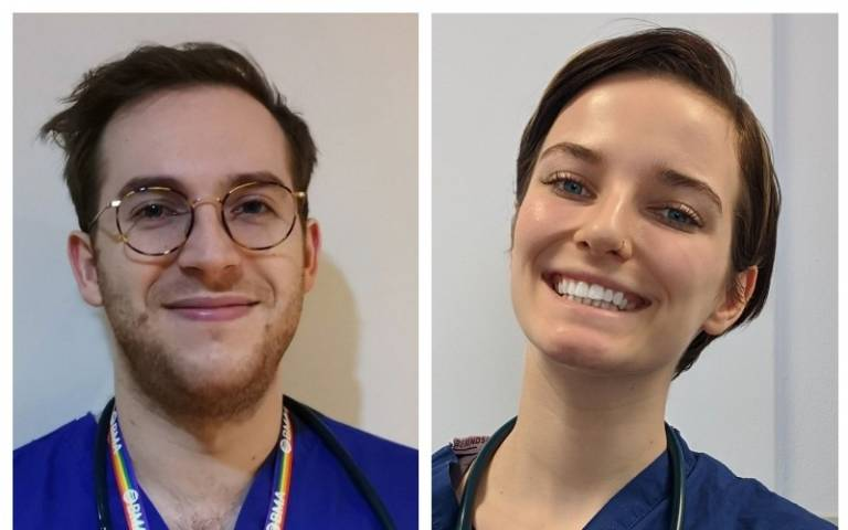 New medical graduates Oliver and Megan will be joining the NHS frontline
