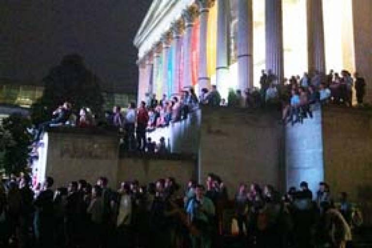 UCL Quad during opening ceremony