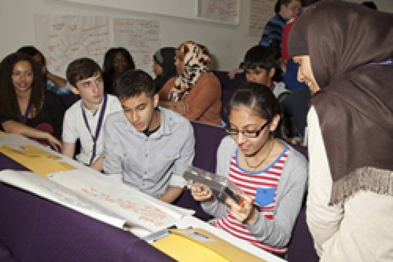 Students engaging in Outreach activities