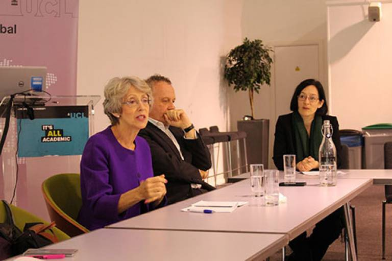 Patricia Hewitt visits UCL's South Asia Network