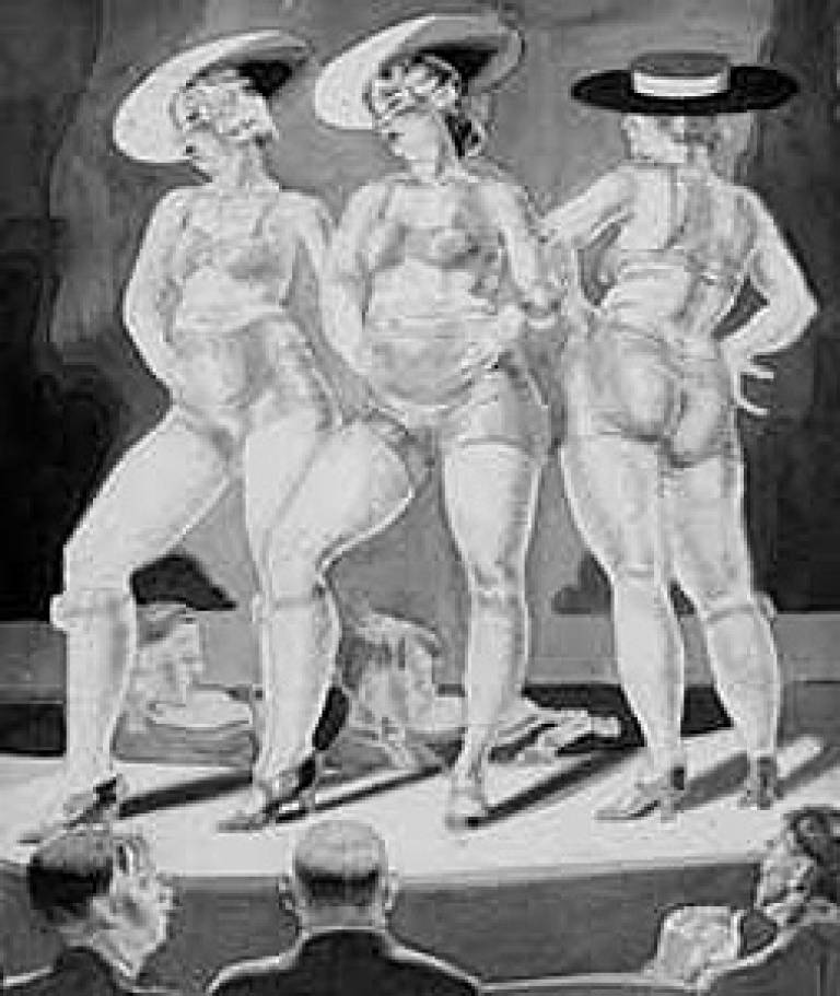 'Study for Etching of Burlesque Dancers' (1930), Paul Ulen