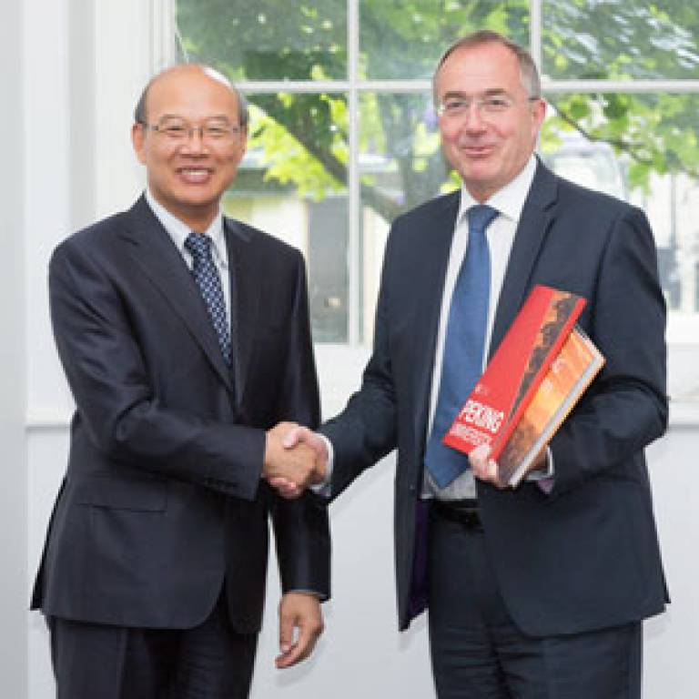 Michael Arthur and President Wang Enge
