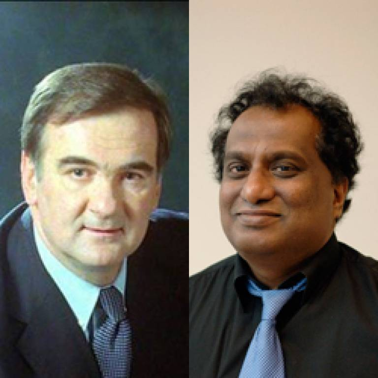 Professor Agostino Pierro and Professor Mohan Edirisinghe