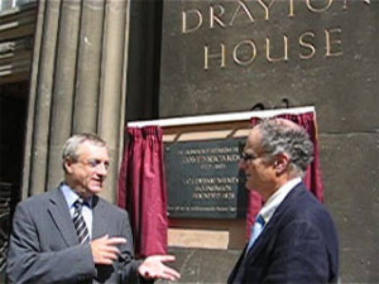 the unveiling of the plaque