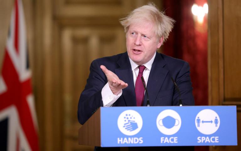 An image of Prime Minister Boris Johnson