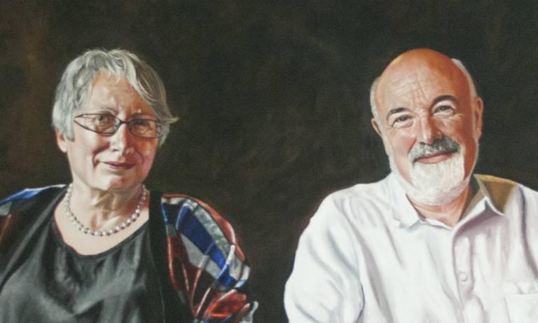 Portrait of Professors Chris and Uta Frith