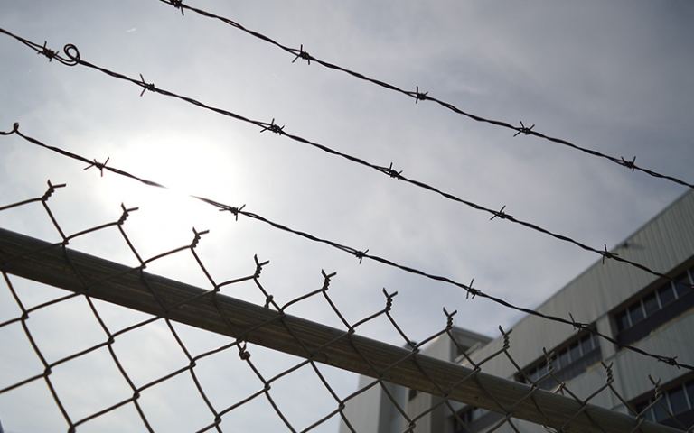 an image of barbed wire fence