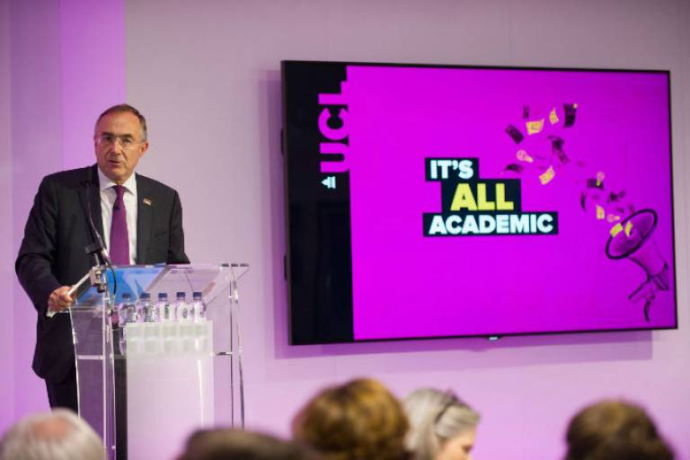 The Provost at the Campaign for UCL launch