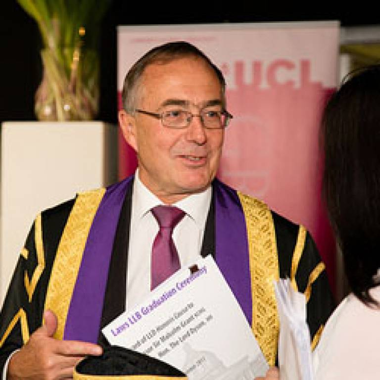 Provost at UCL Laws graduation